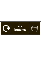 WRAP Recycling Sign - Car Batteries