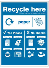 Paper - WRAP Recycle here sign