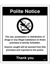 Drugs The use, possession or distribution of drugs is strictly prohibited…
